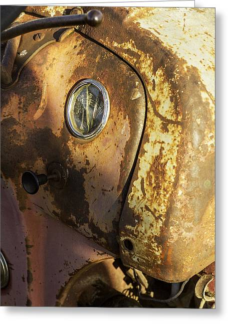 The Old Rustic Tractor-one Greeting Card by David Allen Pierson