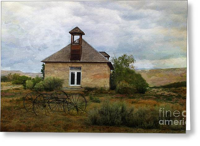 The Old Shell Schoolhouse Greeting Card by Janice Rae Pariza