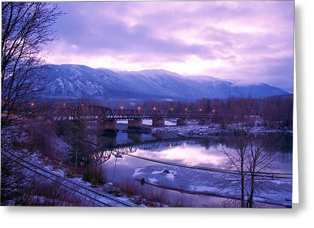 Greeting Card featuring the photograph The Old Skeena Bridge by Sylvia Hart