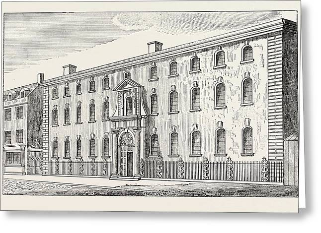 The Old South Sea House London Greeting Card by English School