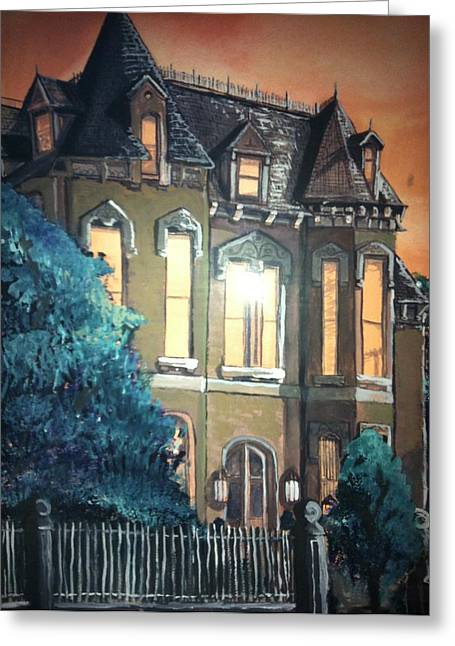 The Old Stegmeier Mansion Greeting Card by Alexandria Weaselwise Busen