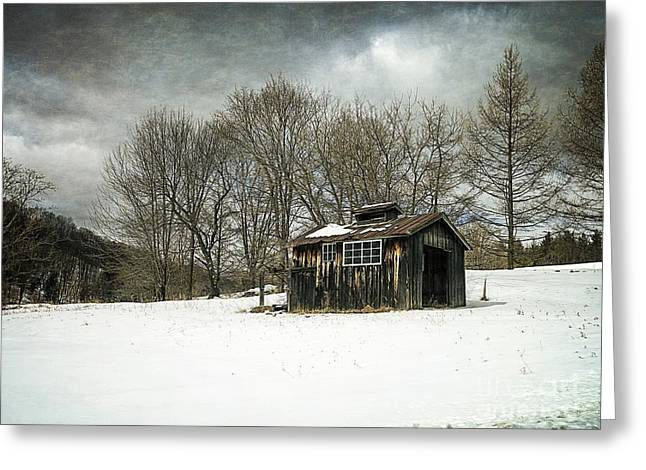 The Old Sugar Shack Greeting Card by Edward Fielding