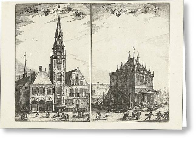 The Old Town Hall In Amsterdam And The Waag The Netherlands Greeting Card