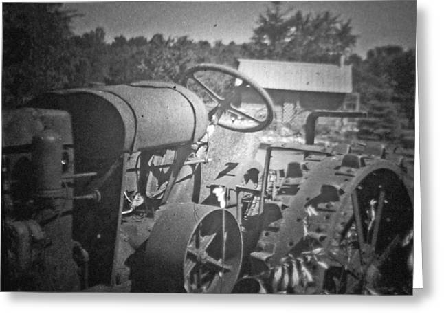 The Old Tractor Greeting Card by Michael Allen