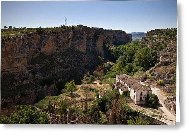 The Old, Unused Mill In The Alhama Greeting Card by Panoramic Images
