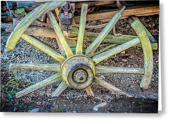 The Old Wagon Wheel Greeting Card