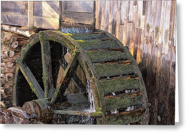 The Old Waterwheel Greeting Card