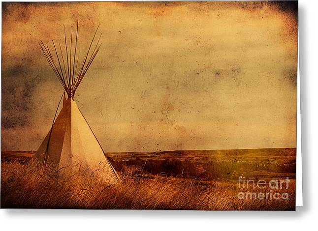 Blackfoot River Greeting Cards - The Old West Greeting Card by Alyce Taylor
