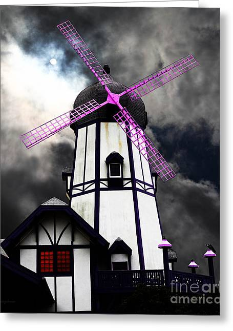 The Old Windmill 5d24398p118 Greeting Card by Wingsdomain Art and Photography