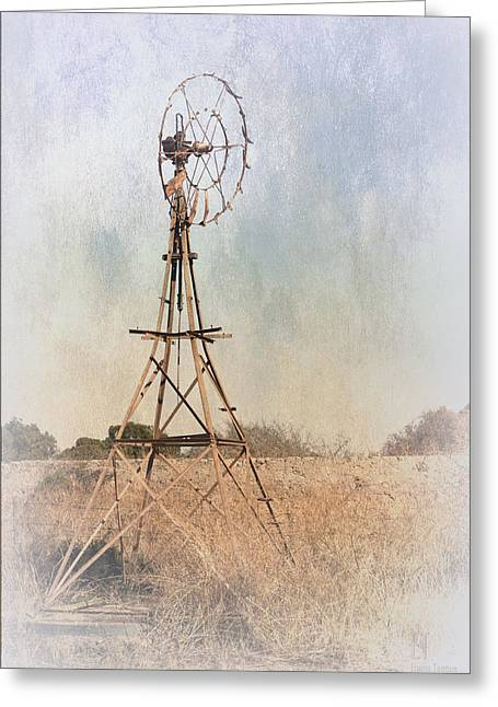 The Old Windmill Greeting Card by Elaine Teague