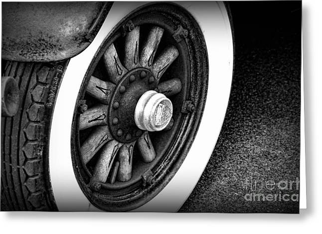 The Old Wooden Wheel Greeting Card by Paul Ward