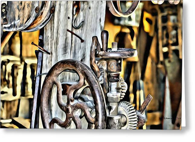 The Ole Drill Press Greeting Card by DD Edmison