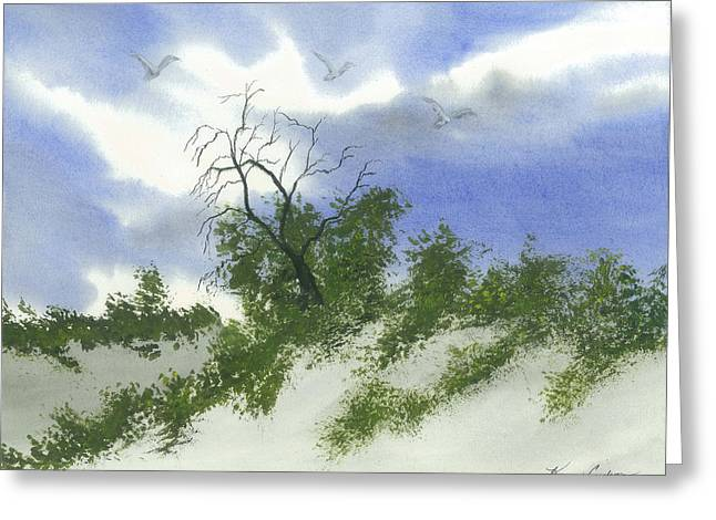 The One Tree Greeting Card by Karen  Condron