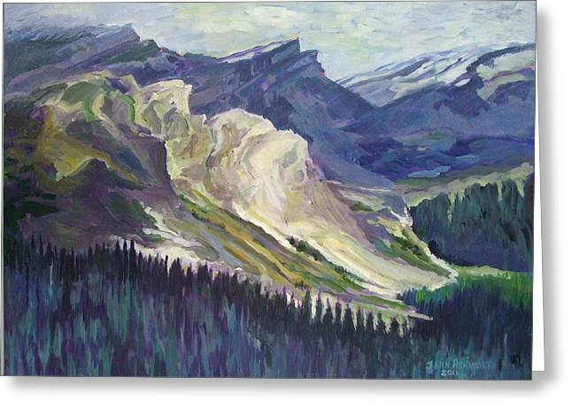 The Opal Mountains Greeting Card