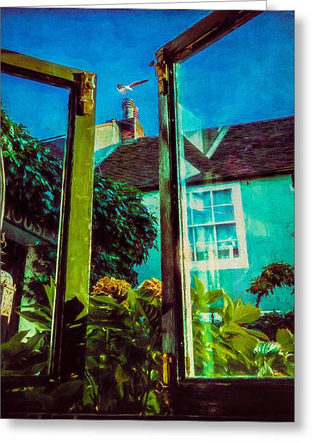 Greeting Card featuring the photograph The Open Window by Chris Lord
