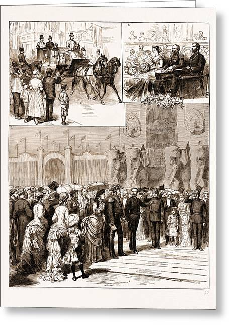 The Opening Of The Amsterdam Exhibition By The King Greeting Card by Litz Collection