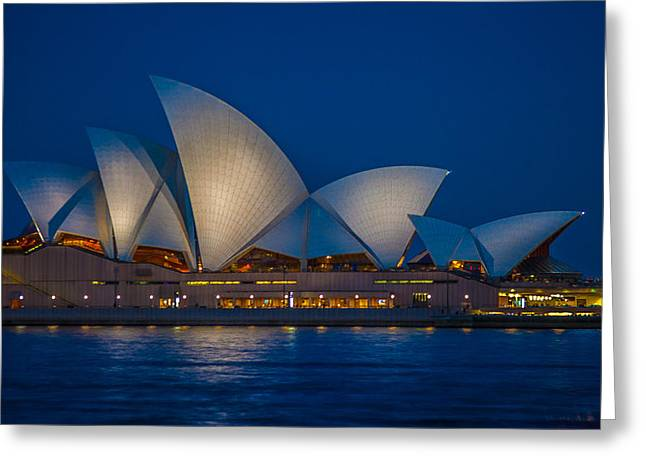 The Opera House Greeting Card by Dasmin Niriella