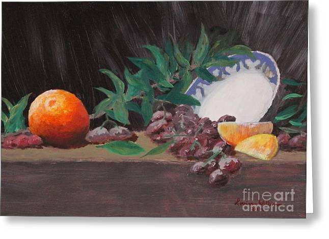 The Orange Bowl Greeting Card by Louise Williams