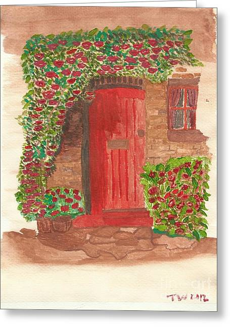 The Orange Door Greeting Card