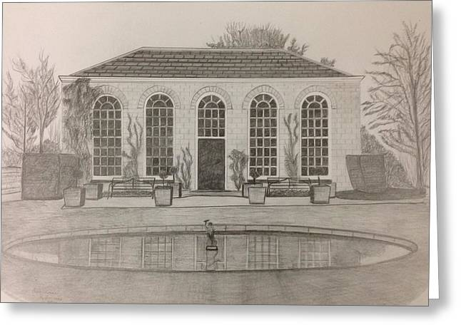 The Orangery Greeting Card by Norman Richards