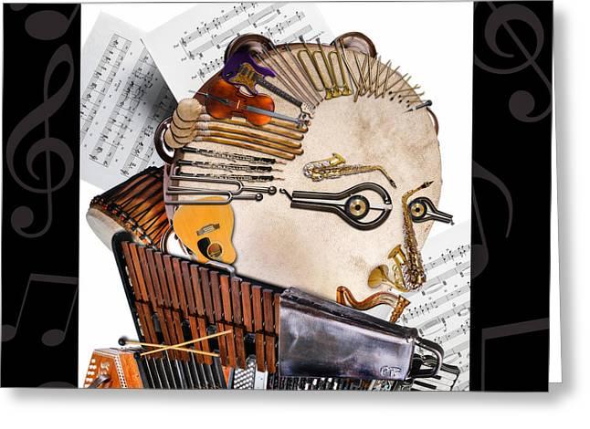 The Orchestra Greeting Card by Alessandro Della Pietra