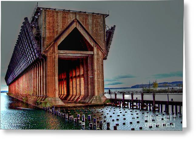 The Ore Is Gone . . . Greeting Card by MJ Olsen