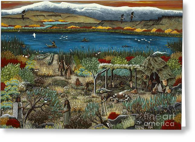 The Oregon Paiute Greeting Card by Jennifer Lake