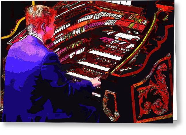 The Organ Player Greeting Card