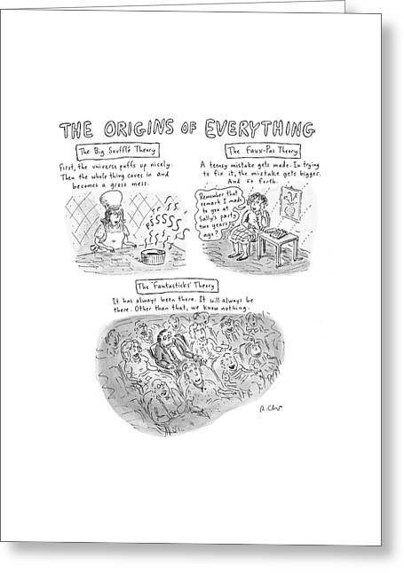 'the Origins Of Everything' Greeting Card by Roz Chast