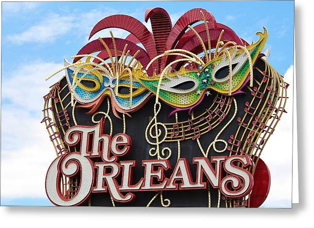 The Orleans Hotel Greeting Card by Cynthia Guinn