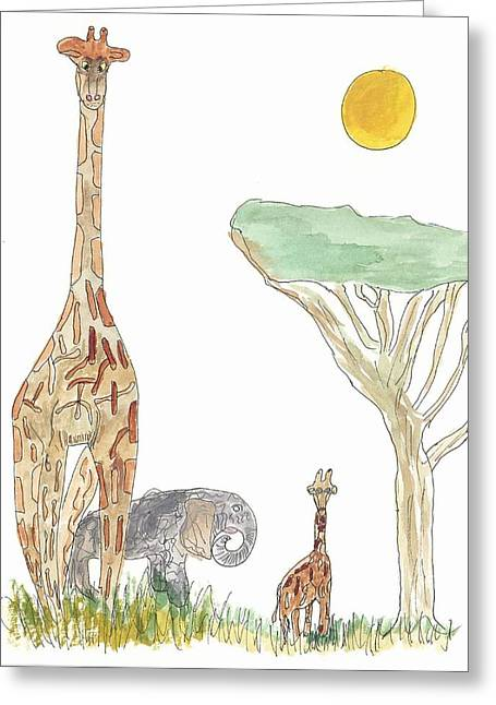 The Elephant Orphan Greeting Card by Helen Holden-Gladsky