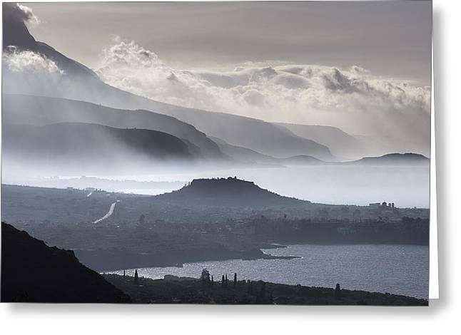 The Outer Mani Coastline Greeting Card by Peter Eastland