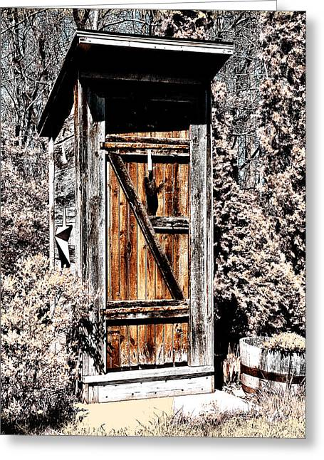 The Outhouse Greeting Card by Bill Cannon