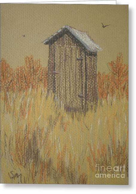 The Outhouse Greeting Card by Suzanne McKay