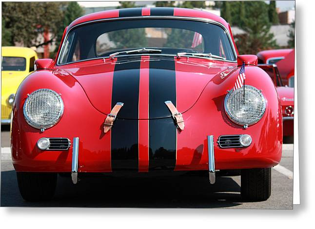 The Outlaw 356 Porsche Greeting Card by Rita Kay Adams