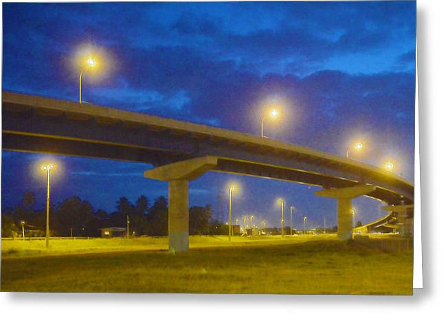 The Overpass Greeting Card by Anton Joseph