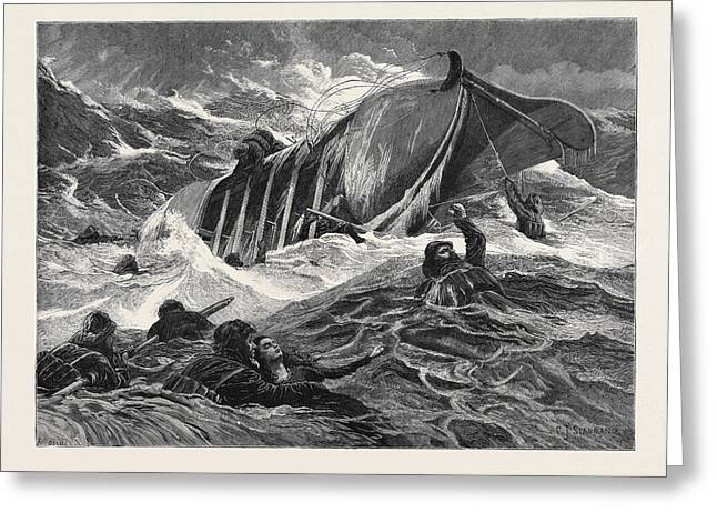 The Overturned Life-boat Greeting Card by English School