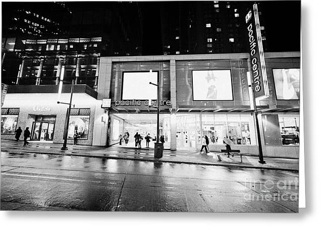 the pacific centre granville street shopping mall Vancouver BC Canada Greeting Card by Joe Fox