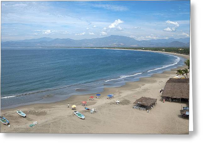 The Pacific Shoreline, Barra De Potosi Greeting Card