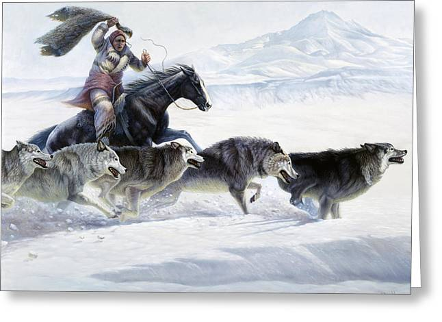 The Pack Greeting Card by Gregory Perillo