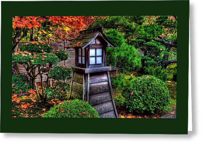 Greeting Card featuring the photograph The Pagoda At The Japanese Gardens by Thom Zehrfeld
