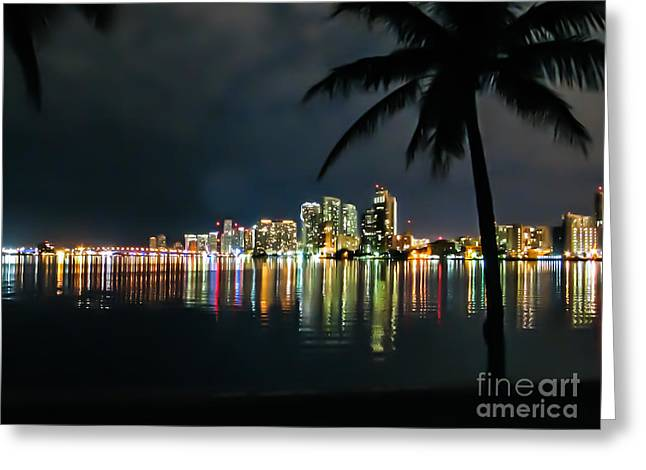 The Painted City Greeting Card by Rene Triay Photography