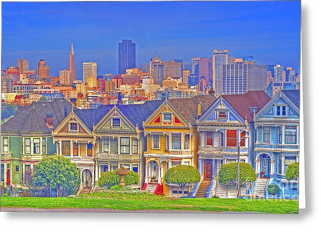 The Painted Ladies Greeting Card