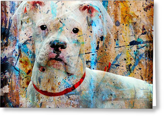 The Painter's Dog Greeting Card by Judy Wood