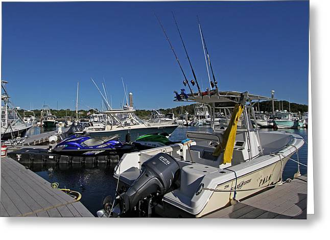 The Pala In Sesuit Harbor On Cape Cod Greeting Card by Juergen Roth