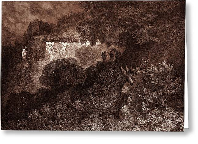 The Palace Of Sleep, By Gustave Dore. Dore Greeting Card by Litz Collection