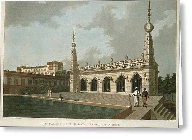 The Palace Of The Late Narob Of Arcot Greeting Card