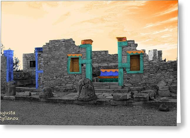 The Palaestra - Kourion-apollon Greeting Card by Augusta Stylianou