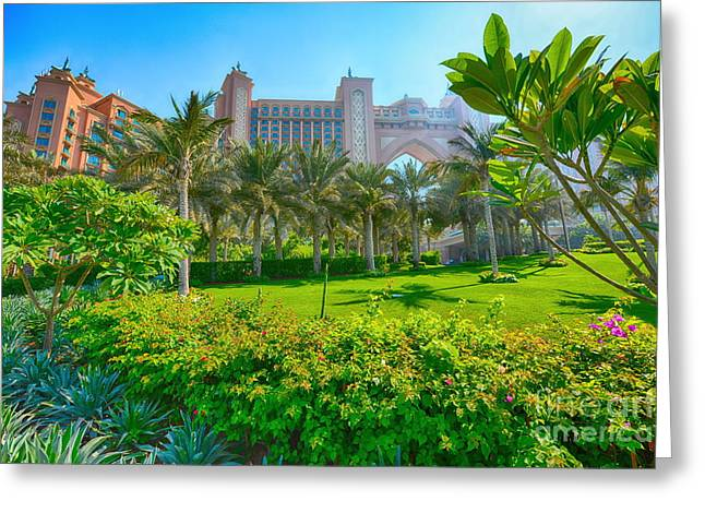 The Palm - Atlantis - Dubai Greeting Card by George Paris