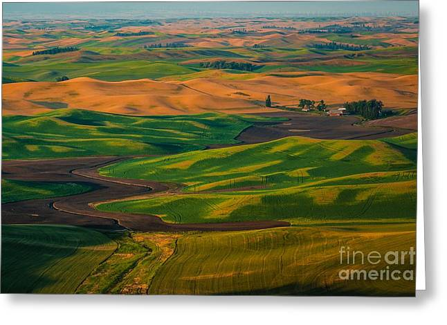 The Palouse Waves Greeting Card